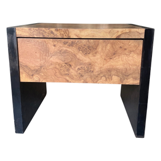 Faux laminate Burled Wood Nightstands, drawer