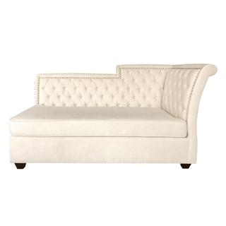 ivory velvet tufted wedding chaise sofa