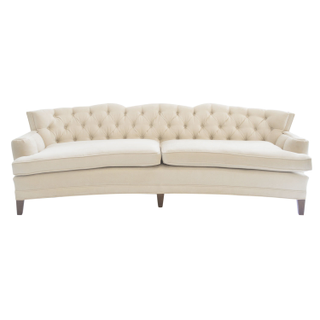 vintage ivory velvet tufted wedding sofa