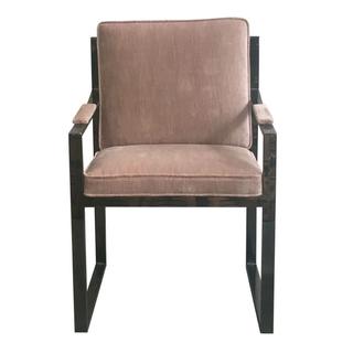 midcentury chrome blush chair