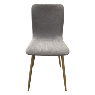 Mid Century Modern Dining Chairs with Brass Legs gray mauve