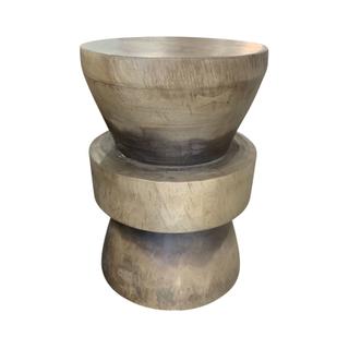 Solid Grey-ish Acacia Wood Tables/Stools