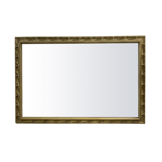 Gilded Gold Mirror, Scalloped Edging