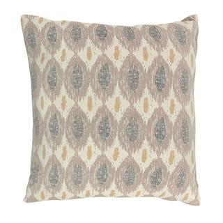 Faded Blush, Mustard and Gray Geometric Pillow