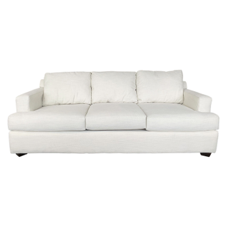 Traditional Woven Ivory 3 Seater Sofa cream white