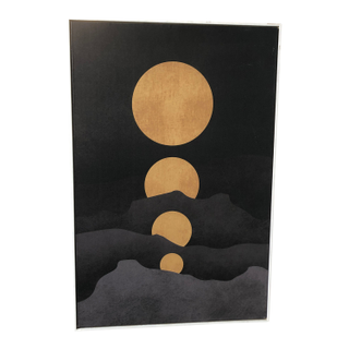 deco canvas modern moon artwork painting