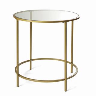 gold circle table