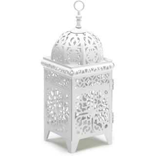 small white boho lantern