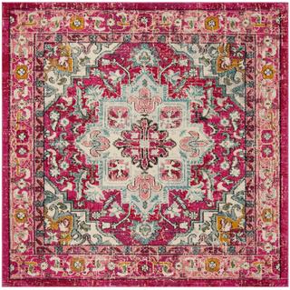 pink square rug