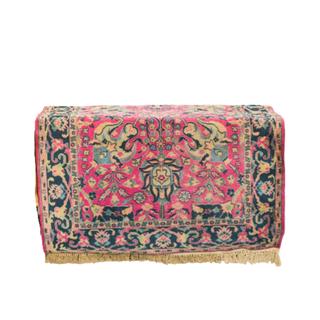 vintage dark pink rug