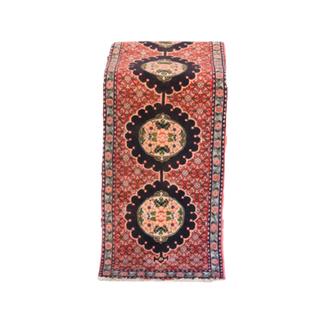 vintage red and black runner rug