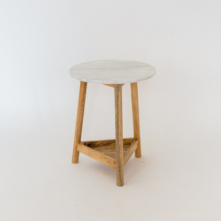 marble top table with wood legs