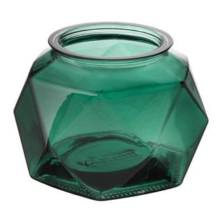 emerald green geometric votive