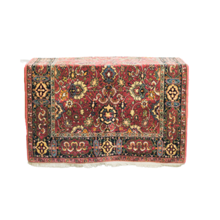 vintage burgundy rug