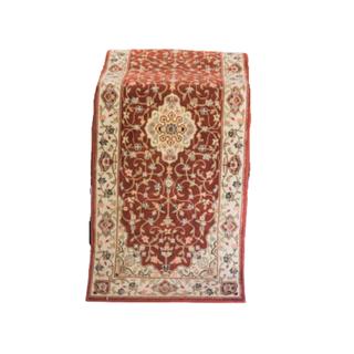 vintage dark red runner rug