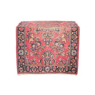 small vintage dark pink rug