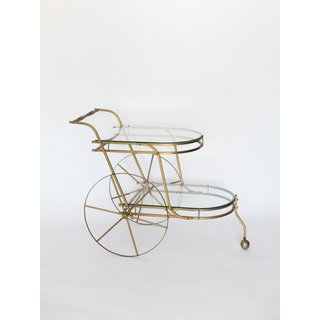 gold vintage bar cart