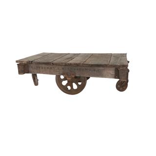 vintage train cart table