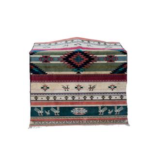 boho rug with aztec print