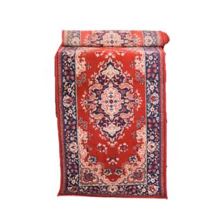vintage red and blue runner rug