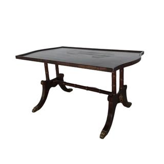 vintage dark wood coffee table