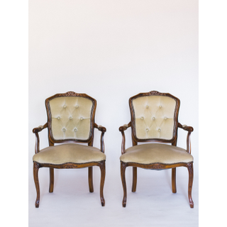 vintage light green chairs
