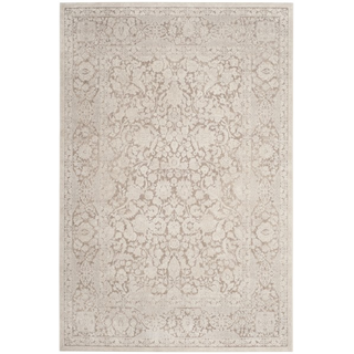 cream rug with floral pattern