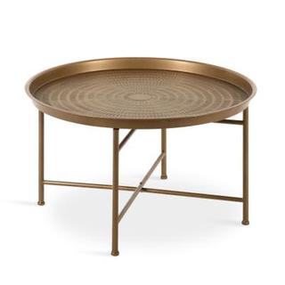 gold circle coffee table