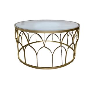 gold geometric coffee table