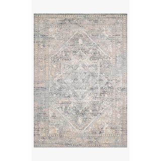 gray and blue rug