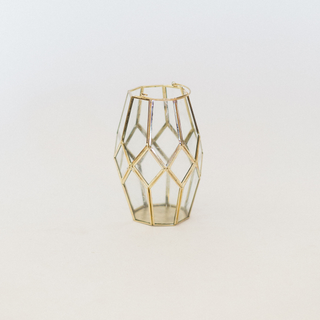 gold oval lantern with handle