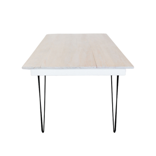 white table with black legs