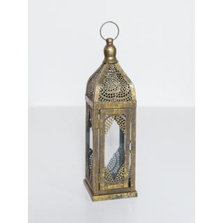 skinny brass lantern