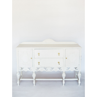 white vintage buffet
