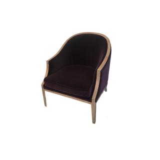 purple velvet modern chair