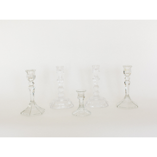 variety of glass candle holders