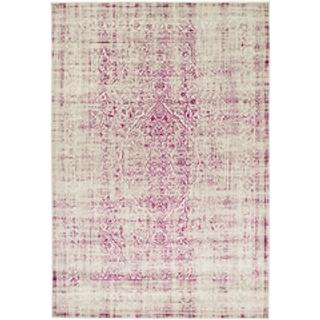 purple and cream rug