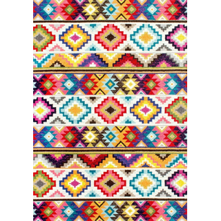 bright colorful rug