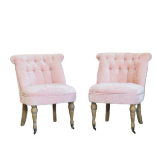 two light pink chairs