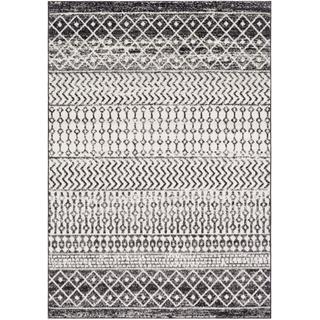 black and white boho rug