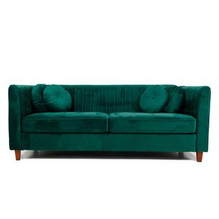velvet jade green sofa