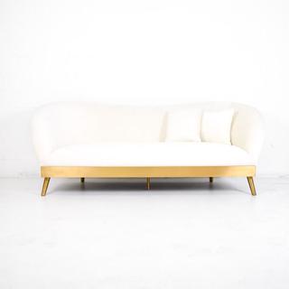 cream velvet sofa