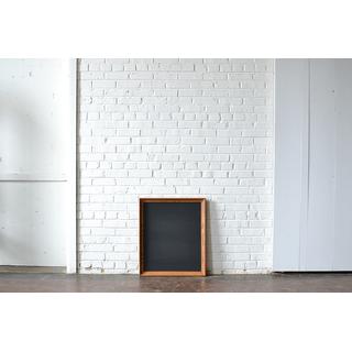 small wood frame chalkboard
