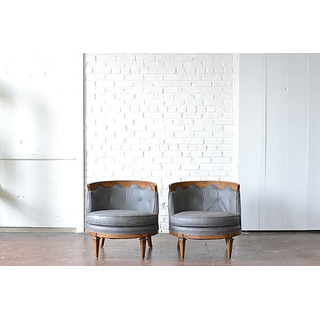 gray wood mid-century modern chairs