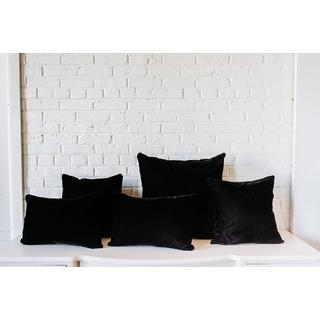 Collection of five Black Velvet Pillows
