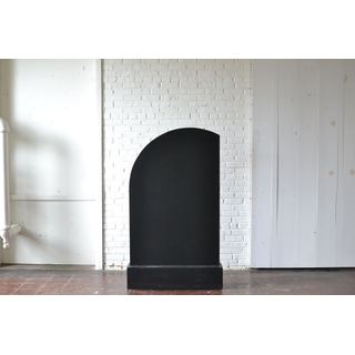 tall rounded Black Panel and Base
