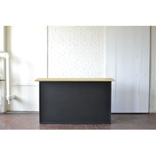 Chalkboard Bar with Light Wood Top