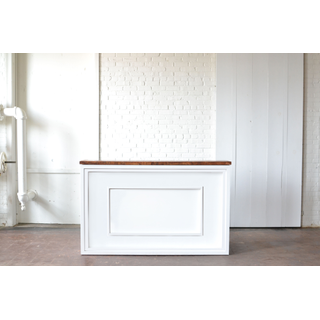 Shadowbox Bar with white detail Wood Top