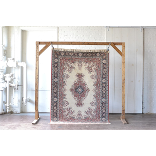 lilac purple and cream neutral vintage rug