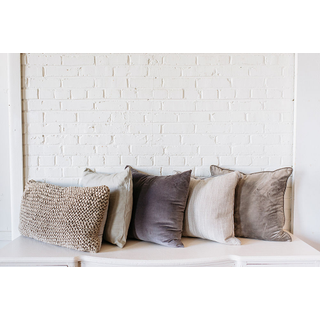 Collection of five Assorted Gray PIllows